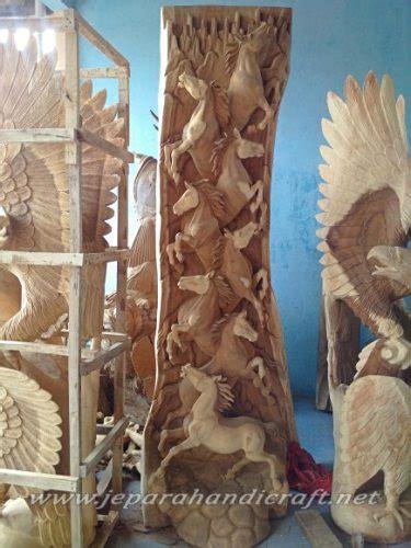 Ekor Kuda Warna Coklat Perak jual relief ukir kuda lari kayu utuh harga paling murah