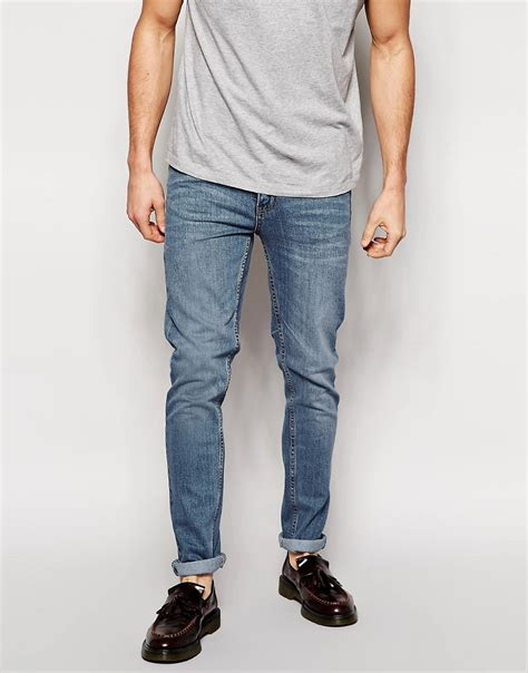 Cheap Monday Bio Wash Retro Celana Skiny shoptagr cheap monday tight fit in clean wash by cheap monday