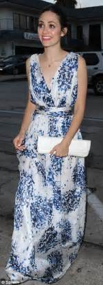 Maxy Dress Jaguar Blue emmy rossum arrives at restaurant in jaguar convertible