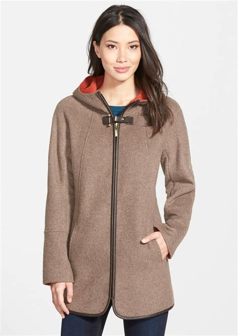 swing coat with hood ellen tracy ellen tracy hooded double face swing coat