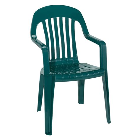 Plastic Patio Chair Shop Mfg Corp Amesbury Green Slat Seat Resin Stackable Patio Dining Chair At Lowes