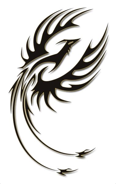tribal phoenix tattoo tribal designs