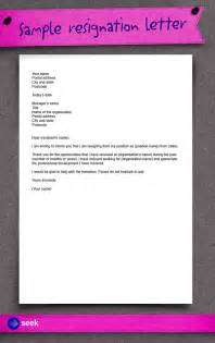 How Write Resignation Letter by How To Write A Resignation Letter Career Advice Hub Seek