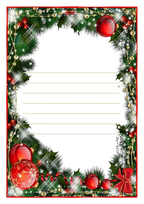 letter to santa claus paper template with lines christmas