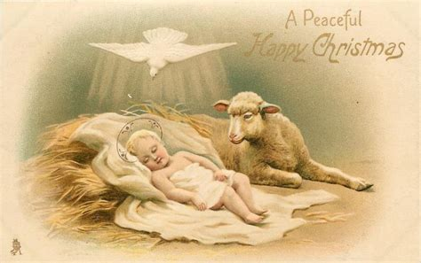 Ag Set Kulot Skyflow 125 000 a peaceful happy baby jesus with white dove above tuckdb postcards