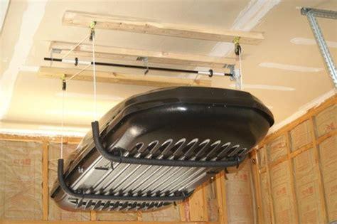 Garage Storage Pulley 25 Best Ideas About Overhead Garage Storage On
