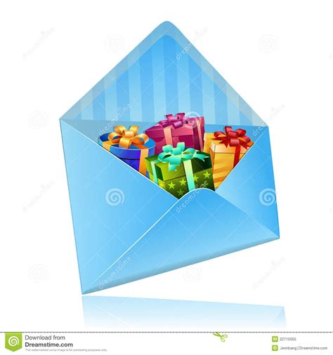 Free Gift Cards In The Mail - sending gift with mail royalty free stock photo image 22715055