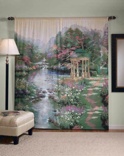 thomas kinkade curtains thomas kinkade garden of prayer window art curtain ebay