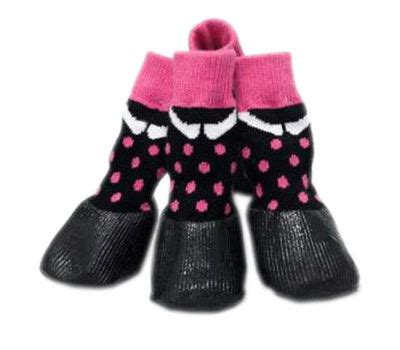 Anti Slip Sock Shoes Pink puppy anti slip waterproof sock shoes for breed