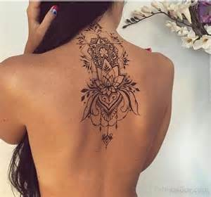 Mini Car Chandelier Flower Tattoo Design On Back Tattoo Designs Tattoo Pictures