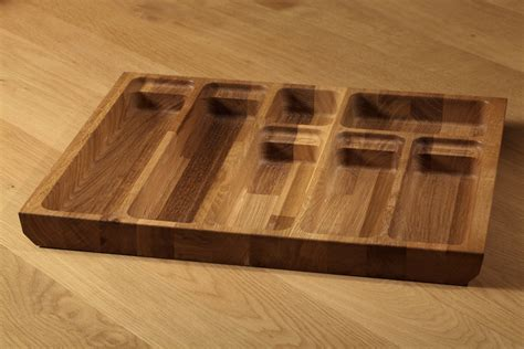 knife drawer insert wood solid oak cutlery tray insert solid oak cutlery drawer