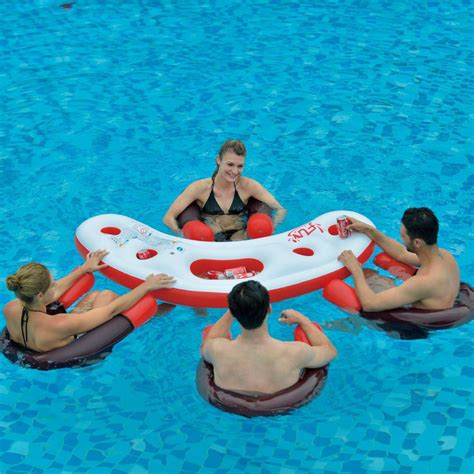floating pool bar with seats backyard design ideas