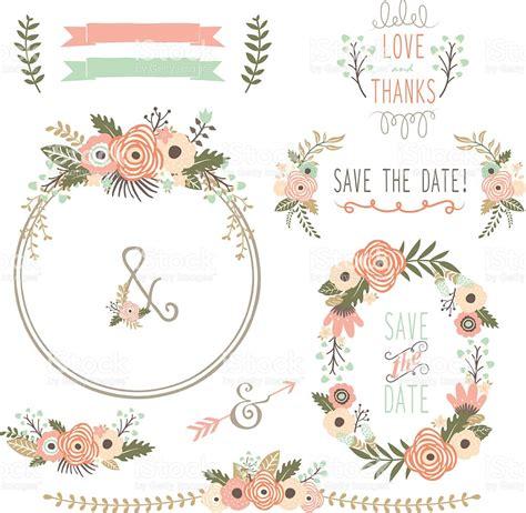 wedding flower vector rustic wedding flower wreath illustration stock vector