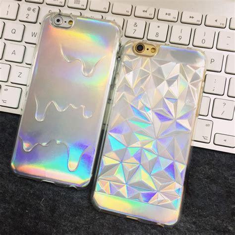 holographic iridescent card rainbow  diamond geometric