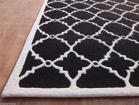 brand  lattice trellis black white   handmade