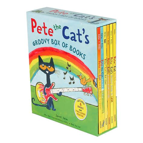 pete the cat treasury five groovy stories books pete the cat s groovy box of books 6 book set by