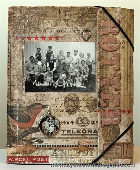scrapbook folio tutorial layers of ink family folio tutorial by anna karin made