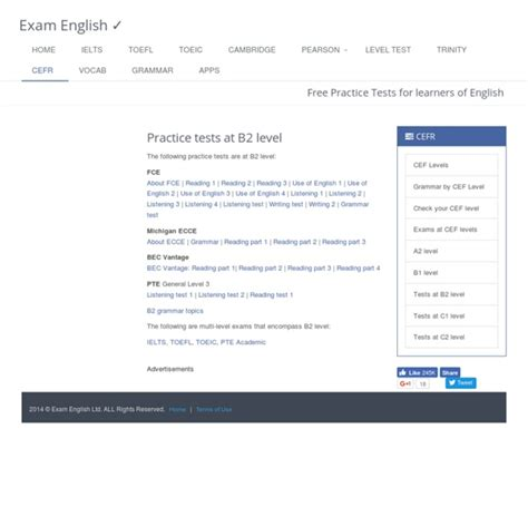 test b2 b2 level language practice tests pearltrees
