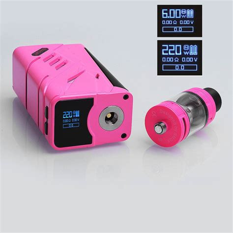 Garskin Smok 220w Tc Pink authentic smoktech t priv 220w pink tc vw mod 5ml tfv8 big baby kit