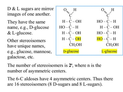 d l isomers carbohydrates carbohydrates