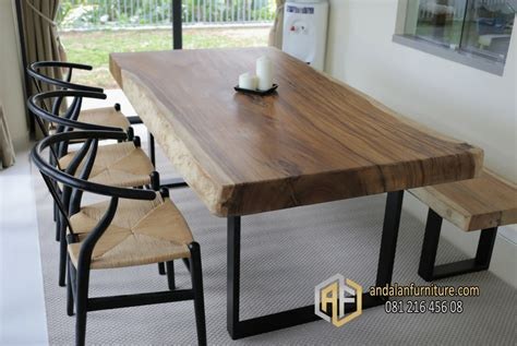 Meja Kayu Furniture meja kayu solid trembesi utuh furniture jepara klasik