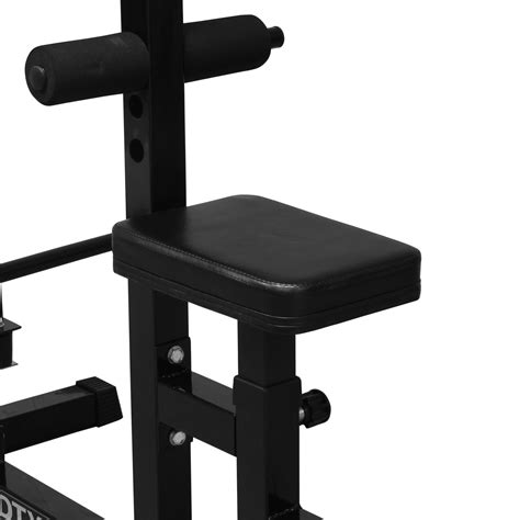 weight bench with cables dtx fitness home multi gym cable lat pull down workstation