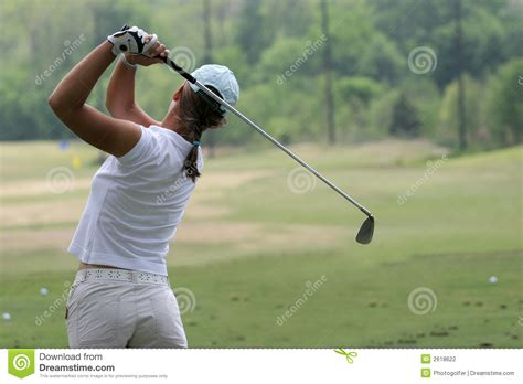 full swing golf cost lady golf swing stock photo image of ball practice