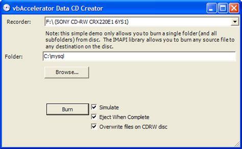cd format joliet myprojects imapi wrapper to burn data cds