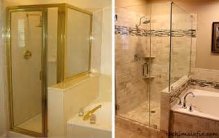 shower before and after bathroom before and after with