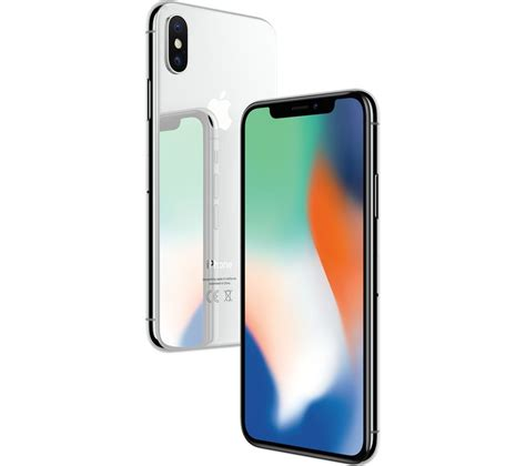 x iphone apple iphone x 64 gb silver deals pc world