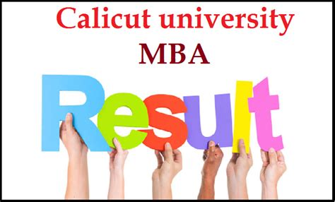Mba Cus Result 2014 by Calicut Results 2014 Mba 3rd 4th 6th Sem