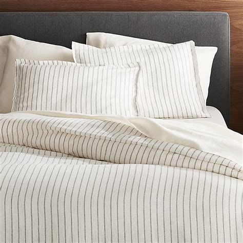 Duvet Covers Next by Linen Wide Stripe Warm White Duvet Cover