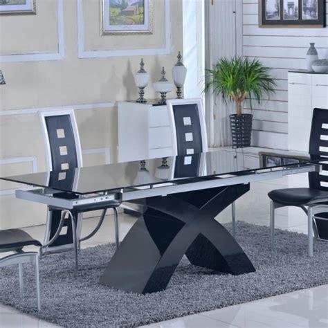 Table En Verre by Table En Verre Noir 224 Rallonges Extensible Elix Achat