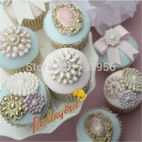 P1154 Brooch Fondant Silicone Mold fondant cake decorating tools novelty brooch jewelry bowknot cupcake mould silicone molds pastry