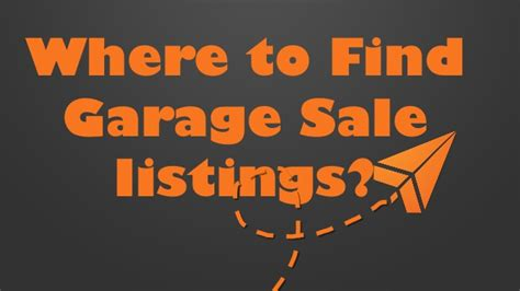 Garage Sale Finder Irvine Where To Find Garage Sale Listings And You Never Miss