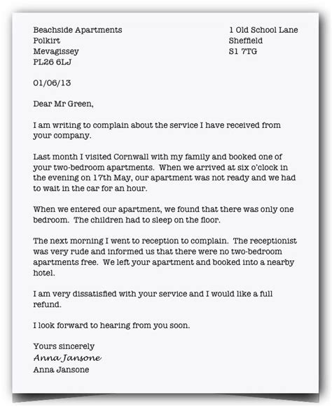 Informal Letter Complaint About Service The 25 Best Ideas About Formal Letter Writing On Formal Business Letter Letter In