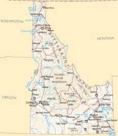 idaho towns map idaho map map of idaho