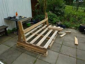 diy pallet outdoor sofa with cushion tutorial 99 pallets