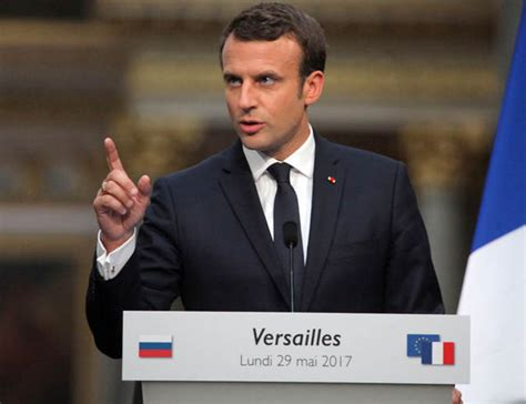 emmanuel macron russia emmanuel macron slams fake news from russia in tense