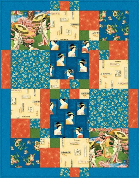 japanese quilt pattern free japanese afternoon quilt pattern from favecrafts com we