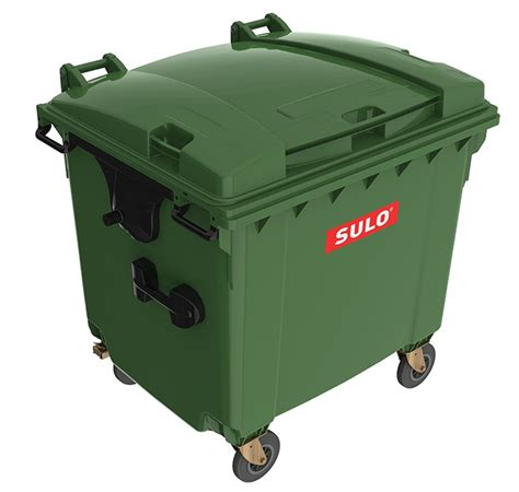 Industrial Kitchen Furniture by Sulo 1100l Mobile Garbage Bin 4 Wheel Trash Amp Recycling