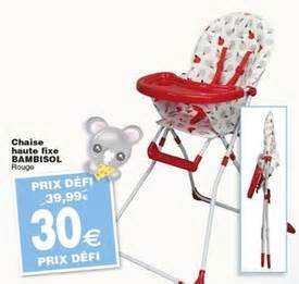 cora promotion chaise haute fixe bambisol bambisol