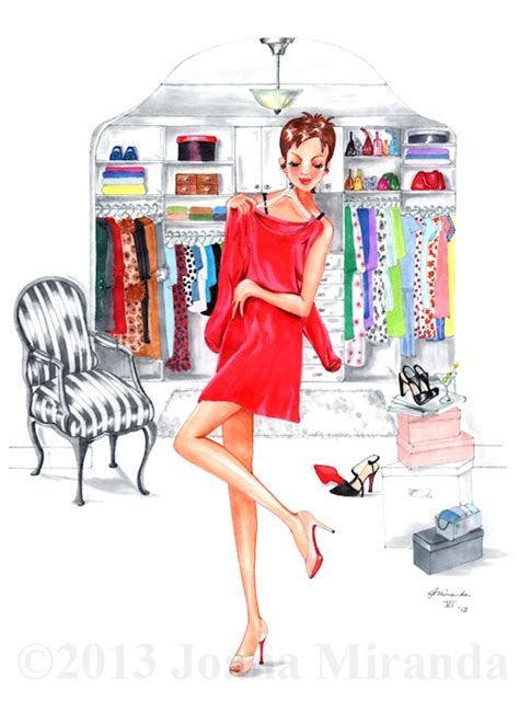 Wardrobe Illustration by A Wardrobe That Even Carrie Bradshaw Would Envy Whimsical