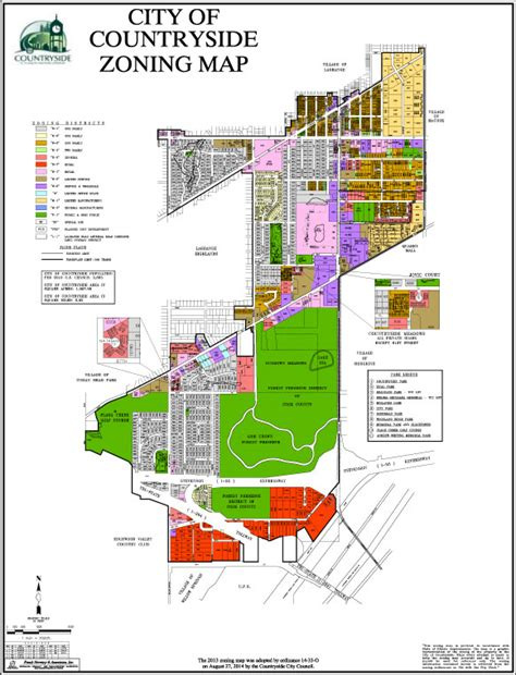City Of Zoning Search City Zoning Map The City Of Countryside Illinois