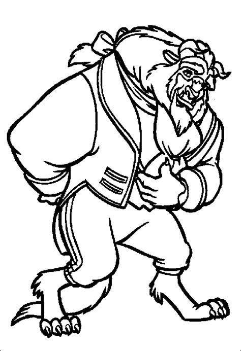 beauty and the beast printing coloring pages coloriage la belle et la bete 3