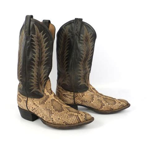 womens two tone brown size 6d cara blanca cowboy boots
