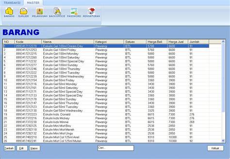 Aplikasi Kasir Software Minimarket Toko Retail program software aplikasi toko mini market retail dan