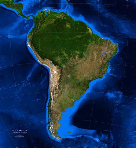 america map satellite south america satellite image giclee print topography