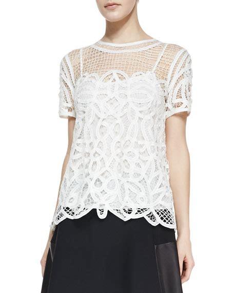 Nancy Blouse rag bone nancy sheer netted lace blouse