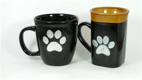 Coffee Print diy paw print coffee mug for the barkpost